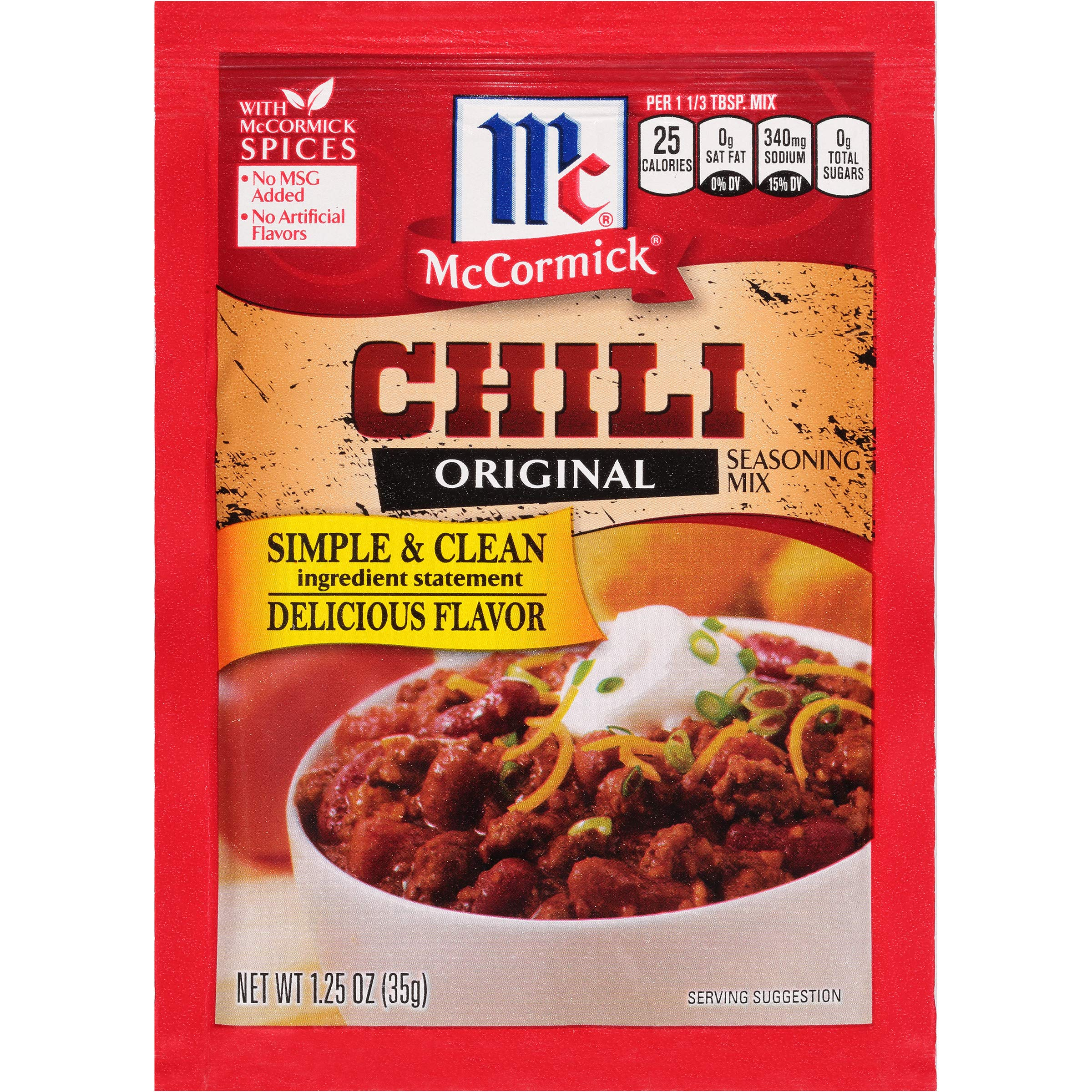 McCormick Chili Seasoning Mix, 1.25 Ounce (Pack of 12)