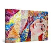 "Startonight Canvas Wall Art Abstract Sensuality in Art Woman Painting Colored Framed 32"" x 48"""