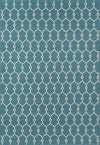 """Momeni Rugs , Baja Collection Contemporary Indoor & Outdoor Area Rug, Easy to Clean, UV protected & Fade Resistant, 5'3"""" x 7'6"""", Blue"""