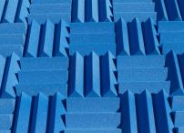 Wedge Style Acoustic Foam Panels 2 Pack - 12in x 12in x 4 Inch Thick Tiles - Soundproofing Acoustic Studio Foam - Blue Color