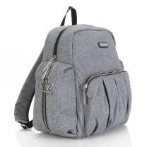 Convertible Fashion Diaper Backpack Sling: Kalencom Chicago Diaper Backpack and Crossbody Sling (Vegan Suede Slate)
