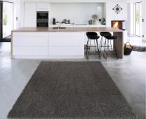 Sweet Home Stores Cozy Shag Collection Charcoal Solid Shag Rug Contemporary Living & Bedroom Soft Shaggy Area Rug, Grey