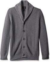 The Knitwear Lab Men's 3D Textured Stitch Cardigan