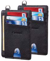 Casmonal Slim Minimalist Front Pocket Wallets RFID Blocking Credit Card Holder for Men & Women