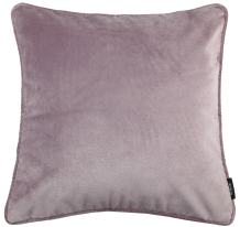 McAlister Textiles Matt Velvet | Pillow Case in Heather Lilac Purple | Square 26 x 26 Inches | Lush & Plush Luxury Throw Cushion Cover Sham Piping Modern Decor for Sofa Couch