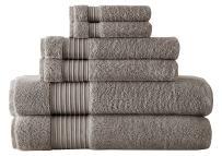 Amrapur Overseas 6-Piece Ultra Soft 700GSM 100% Turkish Cotton Towel Set [Platinum]