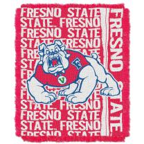 """Officially Licensed NCAA """"Double Play"""" Triple Woven Jacquard Throw Blanket, 48"""" x 60"""", Multi Color"""