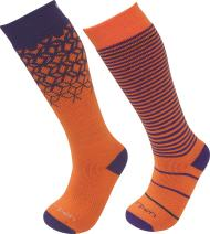 Lorpen Unisex Youth T2 Kids Merino Ski Socks - 2 Pack