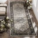 "Safavieh Lyndhurst Collection LNH334K Traditional Oriental Medallion Cream and Navy Runner (2' 3"" x 12')"