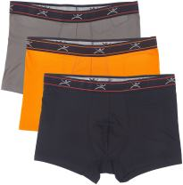 "Terramar Men's Silkskins 3"" Trunk Briefs Underwear with Pouch (Pack of 3)"