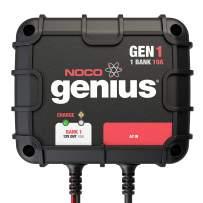 NOCO Genius GEN1 10 Amp 1-Bank On-Board Battery Charger,Black|Blacks