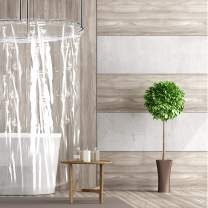 """COB Products Shower Liner Mildew Resistant - with Magnets   Clear Shower Curtain Liner Anti-Bacterial PEVA   Short Length Stays Clean Longer   66"""" L x 72"""" W   Eco-Friendly   Heavy-Duty"""