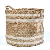 "LR Home Montego Storage Basket, 17"", Natural Jute"