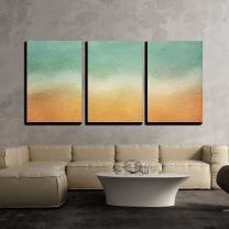 """wall26 - 3 Piece Canvas Wall Art - Watercolor Paper Texture for Artwork - Modern Home Decor Stretched and Framed Ready to Hang - 16""""x24""""x3 Panels"""