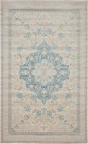 Unique Loom Paris Collection Pastel Tones Traditional Distressed Beige Area Rug (5' 0 x 8' 0)