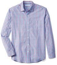 Amazon Essentials Men's Regular-Fit Long-Sleeve Plaid Casual Poplin Shirt