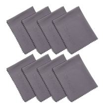 Wisdompro 8-Pack Microfiber Cleaning Cloth for Camera Lens, Glass, Lenses, Phone, iPhone, iPad, Tablet, Laptop, LCD TV, Computer Screen, Monitor and Other Delicate Surface - Grey (6 x 7 Inches)
