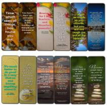 Creanoso Inspirational Reading Classic Book Quotes Bookmarks – Series 1 (12-Pack) – Premium Gift Set – Awesome Bookmarks for Bookworm – Six Bulk Assorted Bookmarks Designs