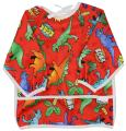 Pikababy Long Sleeved Bib Waterproof Bibs with Pocket - 6 to 24 Months Baby Girl and boy Colors (Dinosaurs)