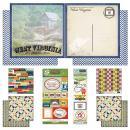 Scrapbook Customs Themed Paper and Stickers Scrapbook Kit, West Virginia Vintage