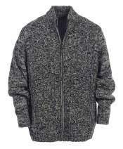 Gioberti Mens Cardigan Twisted Knit Regular Fit Full-Zipper Sweater