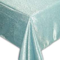 """QUEENSHOW Polyester 54 Inch Square Tablecloth Desk Table Cover Cloth for Kitchen Dinning Tabletop, Blue 54"""" x 54"""""""