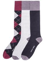 Noble Mount Mens Combed Cotton Dress Socks 3-Pack