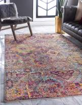 Unique Loom Monterey Collection Vintage Bohemian Tribal Bright Colors Multi Area Rug (9' 0 x 12' 0)