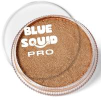 Blue Squid PRO Face Paint - Metallic Antique Gold (30gm), Superior Quality Professional Water Based Single Cake, Face & Body Makeup Supplies for Adults, Kids & SFX