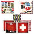 Scrapbook Customs Themed Paper and Stickers Scrapbook Kit, Switzerland Sightseeing