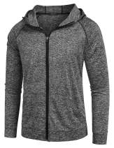 COOFANDY Mens Gym Workout Shirt Bodybuilding Full Zip Up Hooded Sweatshirts