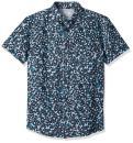 Quiksilver Men's Short Sleeve Linen Print Shirt