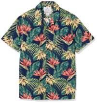 Amazon Brand - 28 Palms Men's Standard-Fit 100% Cotton Hawaiian Shirt