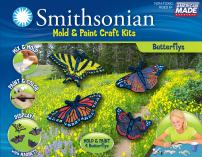 Smithsonian Butterfly Perfect Cast Cast, Paint Display and Learn Craft Kit