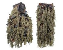 North Mountain Gear Hybrid Ghillie Suit for Men - Lightweight Hunting Camouflage - Woodland Green - Airsoft Sniper Clothing