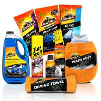 Armor All Car Wash and Cleaner Kit (8 Items) - Includes Interior Cleaning Wipes, Air Freshener, Towels, 19122