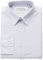 Nick Graham Men's Alternating Neat Print Stretch Dress Shirt