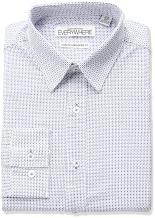 Nick Graham Men's Alternating Neat Print Stretch Dress Shirt