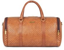 Florid Travel Duffel Bag | 31 ltrs Synthetic Duffle Bag | Weekender Bag-Caramel