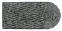 "M+A Matting 22248 Waterhog Eco Grand Premier PET Polyester Fiber Single End Entrance Indoor/Outdoor Floor Mat, SBR Rubber Backing, 7' Length x 6' Width, 3/8"" Thick, Grey Ash"