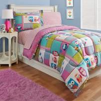 Kidz Mix Owl Floral, Reversible, Full, Comforter Sets, Pink