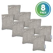Guardian Technologies CB1008PK Pure Guardian Bamboo Charcoal Air Purifier Bags, Eco-Friendly, Naturally Absorbs Odors, Excess Moisture and Pollutants, 8-pack - 100g each, Gray
