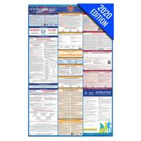 PA Labor Law Poster, 2020 Edition - State, Federal and OSHA Compliant Laminated Poster (Pennsylvania, English)