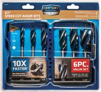 Century Drill & Tool 38606 6 Piece Speed Cut Auger Set