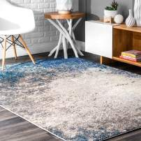 """nuLOOM Donya Abstract Area Rug, 6' 7"""" x 9', Blue"""