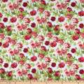Wilmington Flower Market Climbing Roses Blue Fabric by the Yard