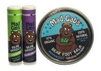 Mad Gab's Bear 3-Piece Natural & Organic Smooch Stick and Foot Balm Set