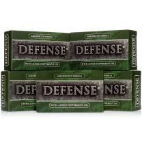 Defense Soap, Peppermint, 4 Ounce Bar (Pack of 5) - 100 Percent Natural Pharmaceutical Grade Tea Tree Oil and Eucalyptus Oil
