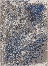 "Well Woven Harput Pixie Blue & Grey Vibrant Modern Geometric Dots 5x7 (5'3"" x 7'3"") Area Rug Watercolor Brush Stroke Pattern Contemporary Thick Soft Plush"