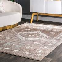 "nuLOOM Castle Sun Tribal Area Rug, 5' x 7' 5"", Brown"